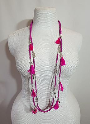 Im Gorgeous - Pink Silver Necklace