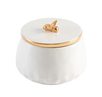 Trinket  Box with Bee Lid