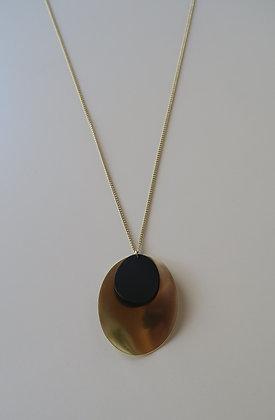 Im Gorgeous - Disc Necklace - Gold/Black