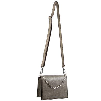 Milleni - Elegant Cross-Body Handbag/Clutch - Pewter