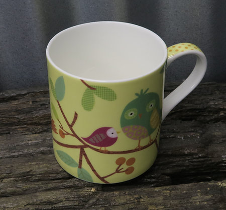 Queens - Fine Bone China Bird Song Mug