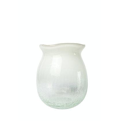 Maytime Shaded White Crackle Vase