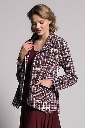 Picadilly  Asymmetric Zip Front Jacket