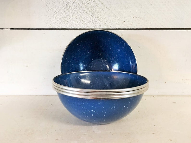 Campfire - Enamel Bowl 15cm - Blue