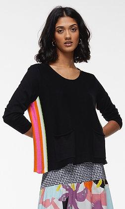 Zacket & Plover  Side Stripe Pullover Black