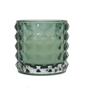 Glass Tealight Holder with Candle