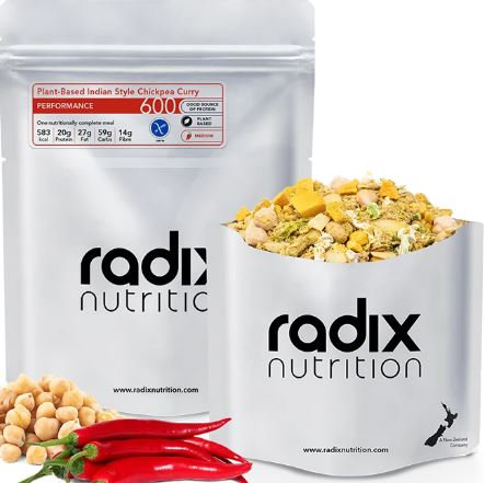 Radix 600 Plant-Based Indian Style Chickpea Curry Performance