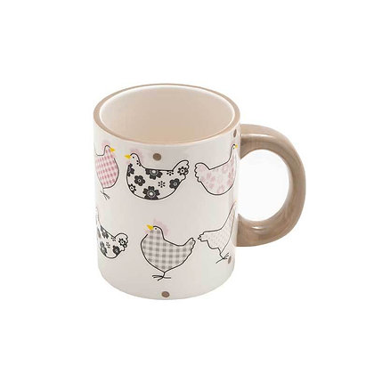 Chicken & Gingham Mug
