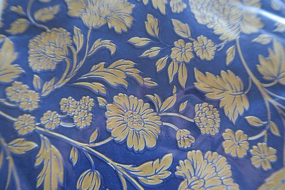 ppd - paper napkin - George V embossed gold/blue