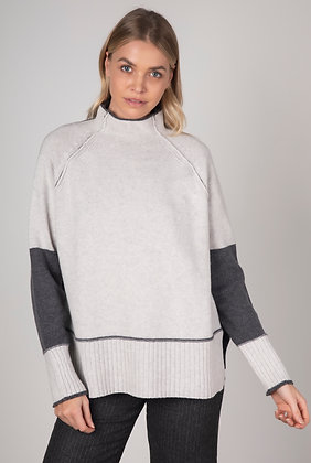 Zaket & Plover Funnel Neck Sweater Charcoal