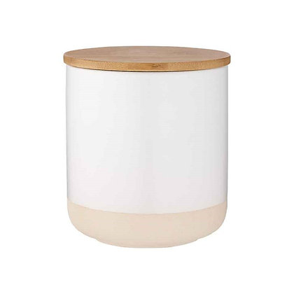 Ladelle Host Canister 13cm White