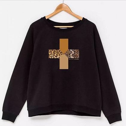 Stella+Gemma Sweater Black/Safari