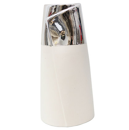 Ceramic Dipped Silver Vase