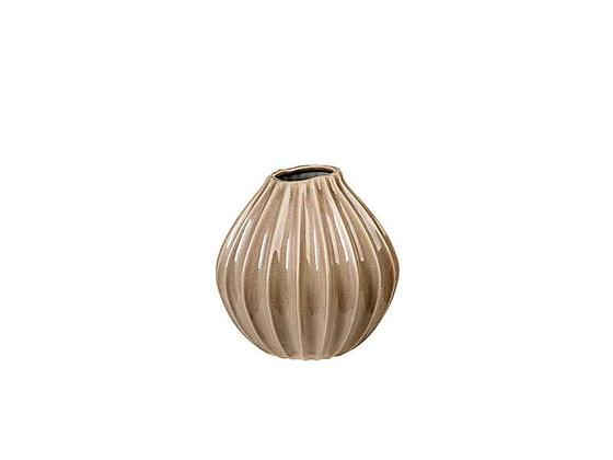 Broste Copenhagen - Ceramic Fluted Vase