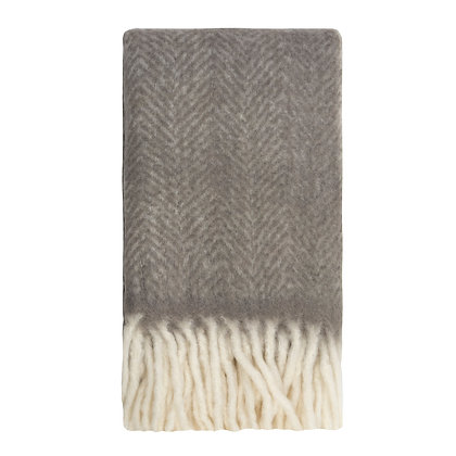 Bliss Mohair Throw Charcoal