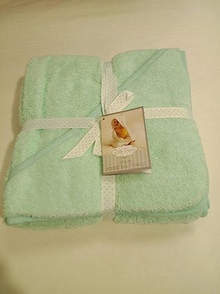 Hooded Baby Towels 2 Pack Mint