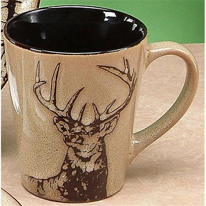 Large Embossed Stag Mug