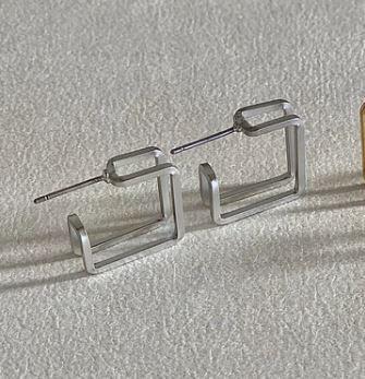 Lilio Earrings Silver