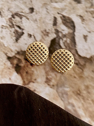 Lilio Earrings - Round Mesh - Gold or Silver