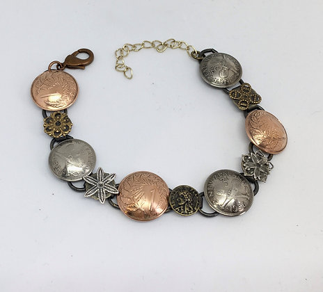 Rainey Designs - Mixed Metal Coin Bracelet