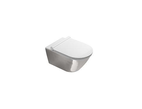CATALANO ZERO NEW FLUSH 55 WALL-HUNG WC WHITE INSIDE / SILVER OUTSIDE
