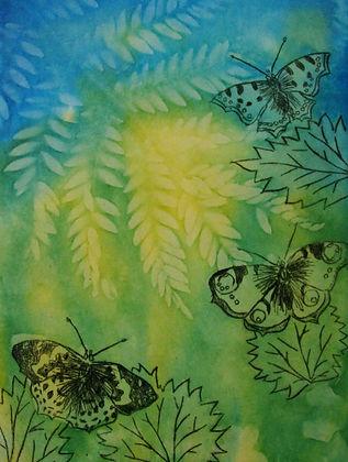 Drypoint print on colour solar print.jpg