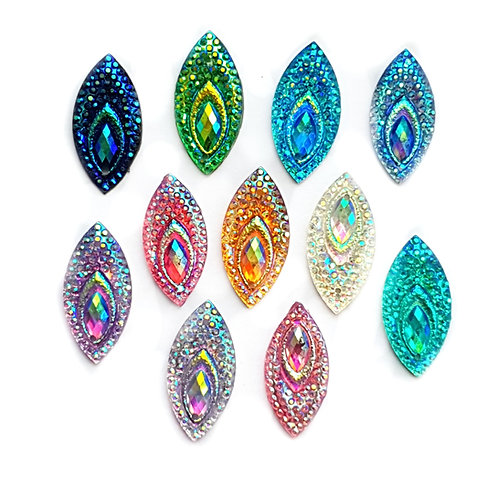 Peacock Horse-Eye - 10x23mm (20pcs)