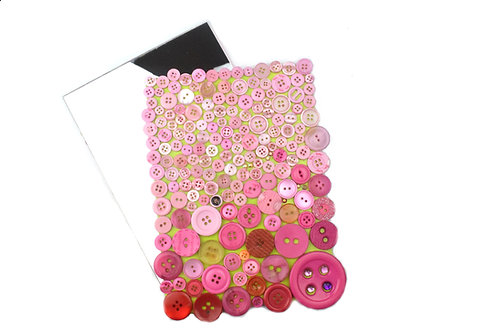Button Mary Acrylic Mirror - Pink