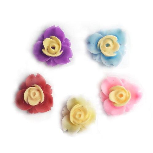 Flowers 1 - Mixed 11mm  (20pcs)