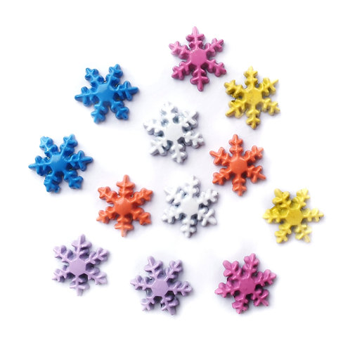 Solid Snowflakes - 10mm (20pcs)