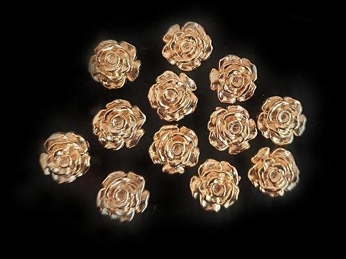 Gold Flowers - 10mm (20pcs)