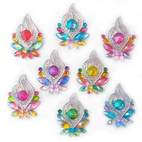 Rainbow Crown -  8pc Cluster set