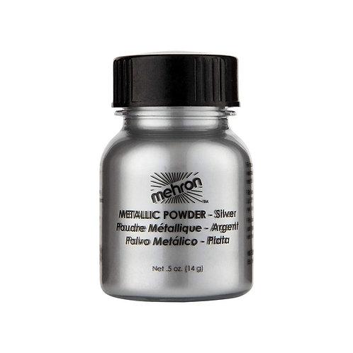 Mehron Metallic Powder - Silver 1oz