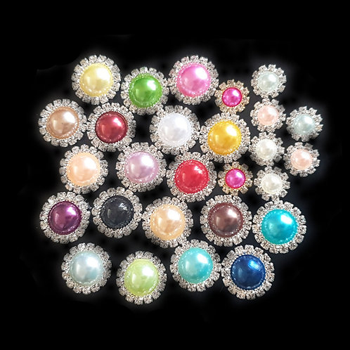 Pearl Diamante - 10/15mm (10pcs)