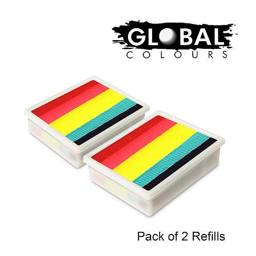 Global 10g Refills (2x) Leanne's Neon Rainbow