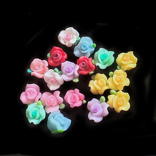 Clay Roses  - 10mm (10pcs)