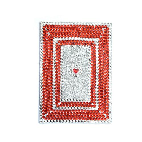 Glitter Gem Acrylic Mirror - Red Heart