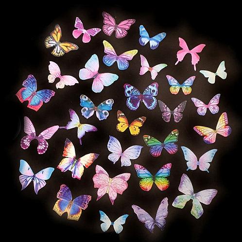 Fabric Butterflies - 4/5cm (10-31pcs)