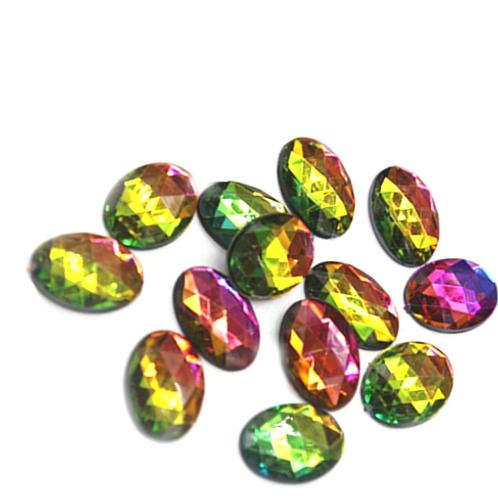 Rainbow Ovals - 10x14mm  (20pcs)