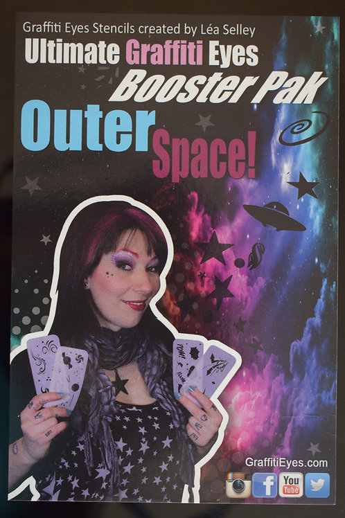 OuterSpace Graffiti Eyes Booster Stencils
