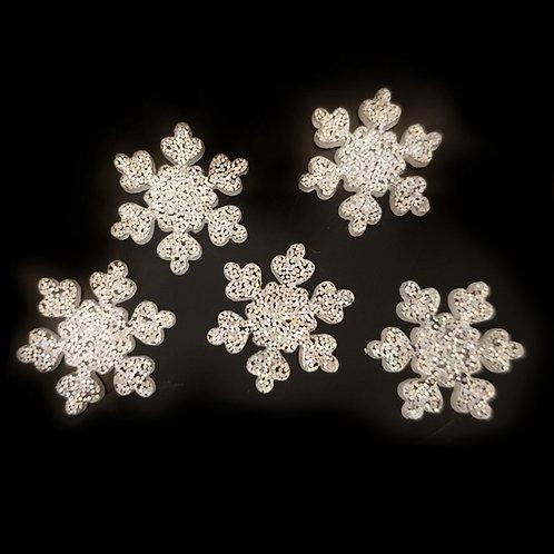Glitter Snowflakes - 16mm (10pcs)