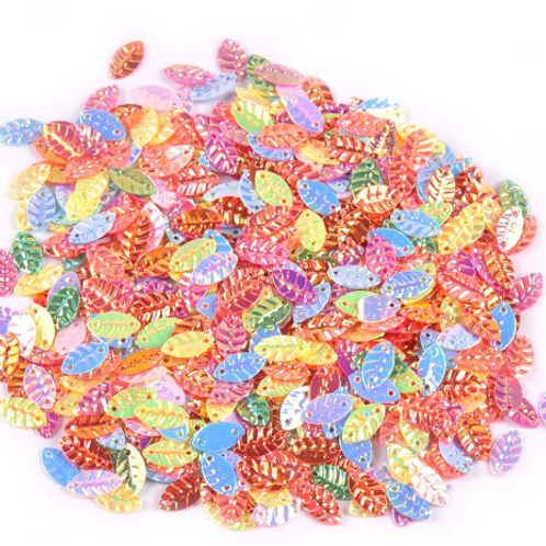 Tiny Sequin Leaves - 4x8mm (5g ~400pcs)
