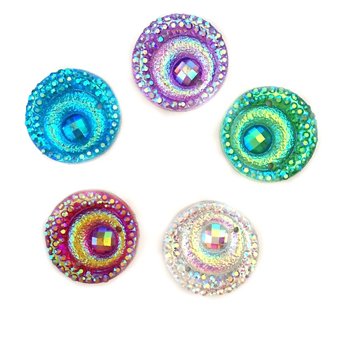 Peacock Rounds - 12mm (40pcs)