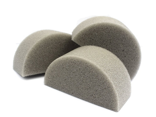 Half Sponges - Medium Grey (10 pack)