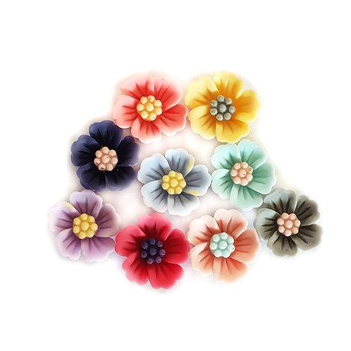 Flower 5 - Mixed 17mm  (10pcs)