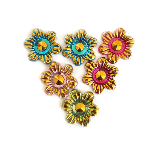 Met Flowers - Mixed 20 mm  (10pcs)