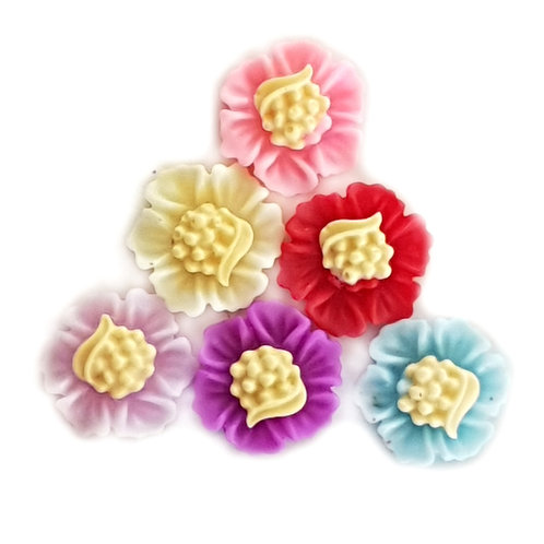 Flowers 2 - Mixed 12 mm  (20pcs)