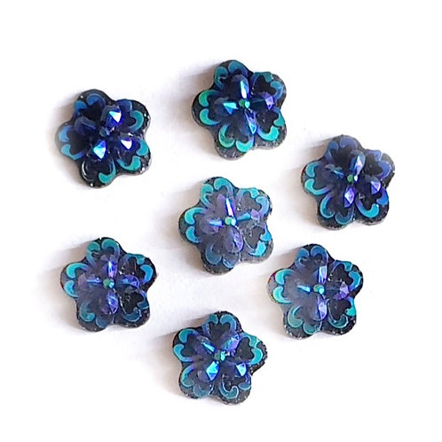 Cross Flowers - Blue 12mm (20pcs)