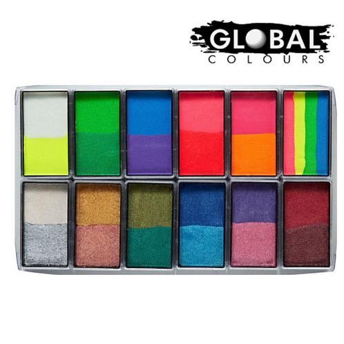 Global Rainbow Bright & Shiny Palette