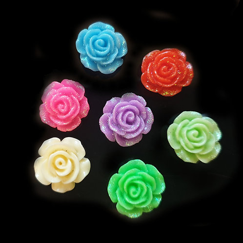 Glitter Roses - 13mm (20pcs)